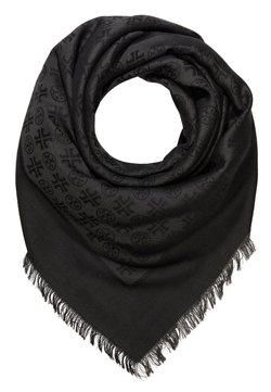 Tory Burch - LOGO TRAVELER SCARF - Chusta - black