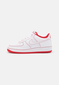 Nike Sportswear - AIR FORCE 1 UNISEX - Sneaker low - white/university red
