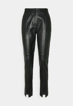 Bruuns Bazaar - PETRAH TILLY PANT - Pantalon en cuir - black