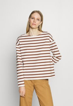 Marc O'Polo - LONG SLEEVE BOAT NECK - Strickpullover - toffee brown