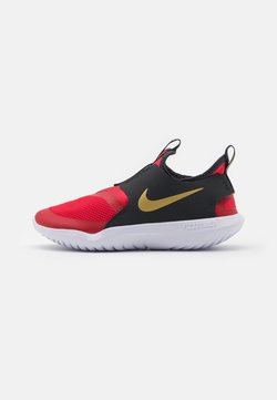 Nike Performance - FLEX RUNNER UNISEX - Zapatillas de running neutras - university red/metallic gold/dark smoke grey/white