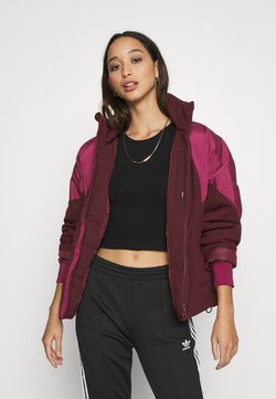 adidas Originals - SHORT PUFFER - Winterjacke - maroon/power berry