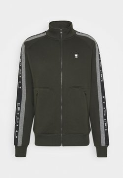G-Star - STRIPE JACKET - veste en sweat zippée - ashor sweat r - asfalt