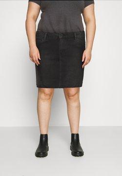 Vero Moda Curve - VMFAITH SHORT SKIRT MIX - Minirock - black
