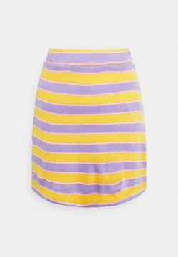 NEW girl ORDER - STRIPE MINI SKIRT - Gonna a campana - multi