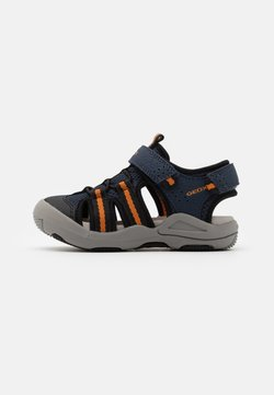 Geox - JR KYLE - Trekkingsandale - navy/orange