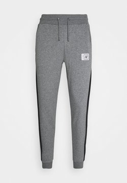 SIKSILK - LUXE MUSCLE FIT JOGGER - Jogginghose - grey marl