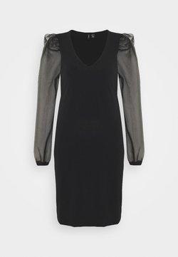 Vero Moda Tall - VMALBERTA PUFF V-NECK DRESS - Vardagsklänning - black