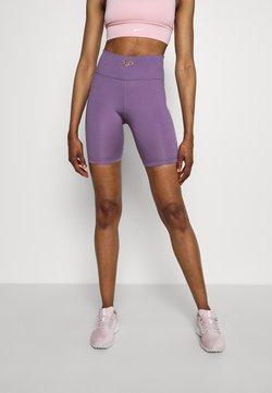 Nike Performance - FEMME ONE SHORT  - Tights - amethyst smoke/metallic gold