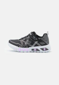 Skechers - FLEX GLOW - Sneaker low - black/charcoal/silver