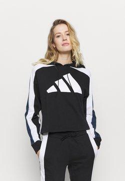 adidas Performance - BIG LOGO SET - Trainingsanzug - black/white