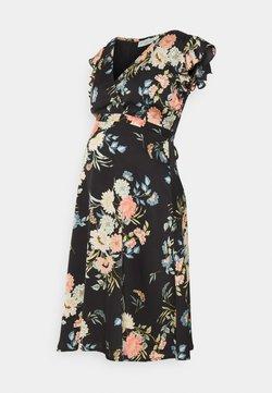 JoJo Maman Bébé - FLUTTER SLEEVE DRESS - Vestito di maglina - black