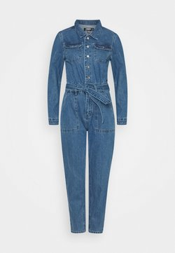 Missguided Petite - BOILER BUTTON THROUGH JUMPSUIT - Haalari - blue