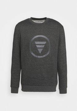 Curare Yogawear - ROUND NECK  CHEST PRINT - Sweatshirt - dark grey melange