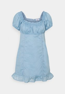 Cotton On Petite - SHORT SLEEVE CORSET MINI DRESS - Vestido informal - wave washed blue