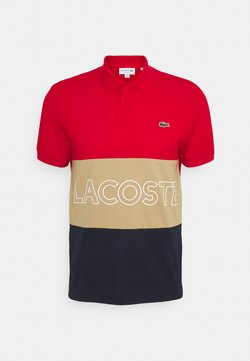 Lacoste - Polo - rouge/viennois marine