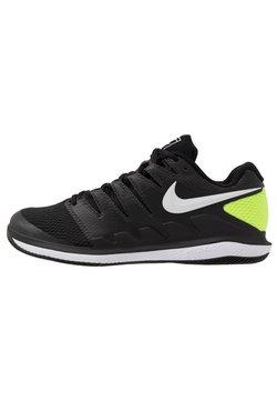 Nike Performance - AIR ZOOM VAPOR X - Zapatillas de tenis para todas las superficies - black/white/volt