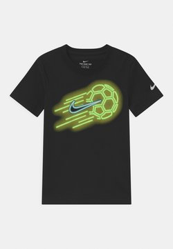 Nike Sportswear - GLOW IN THE DARK SOCKER BALL - T-shirts med print - black