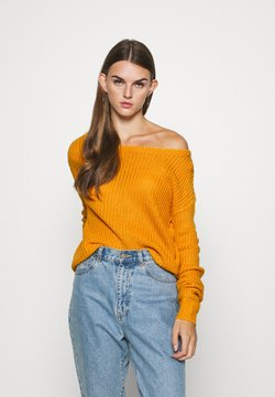 Missguided - OPHELITA OFF SHOULDER JUMPER - Neule - mustard
