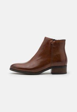 Anna Field - LEATHER - Boots à talons - cognac
