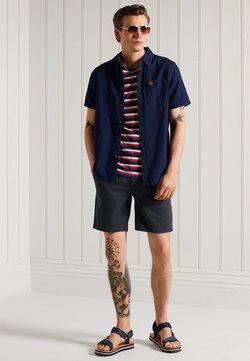 Superdry - COLLEGIATE APPLIQUE - T-Shirt print - grey marl stripe