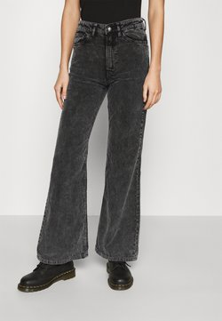 Weekday - RITZ TROUSERS - Trousers - washed black