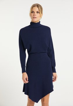 usha - Stickad klänning - marine