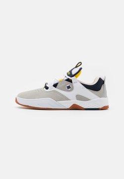 DC Shoes - KALIS - Sneaker low - white/grey/yellow