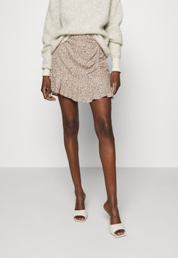 Abercrombie & Fitch - CINCH DETAIL SKIRT - A-Linien-Rock - brown