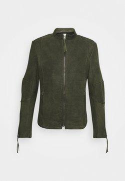 Tigha - NIAM BUFFED - Leren jas - military green