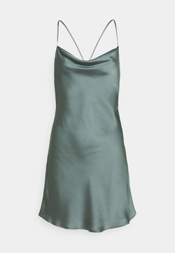 Abercrombie & Fitch - CHASE SLIP MINI DRESS - Cocktailkleid/festliches Kleid - green