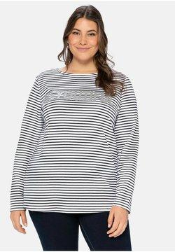 Sheego - Sweatshirt - weiß schwarz