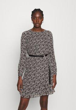 Calvin Klein - PLISSE DRESS - Freizeitkleid - black white mini floral print
