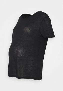 Pieces Maternity - PCMSORAYA TEE - Camiseta básica - black