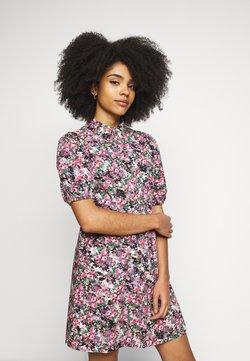 Vero Moda Petite - VMANNELINE DRESS - Skjortekjole - black/yellow