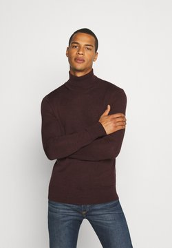 AllSaints - MODE ROLL NECK - Pullover - garnet red mouline