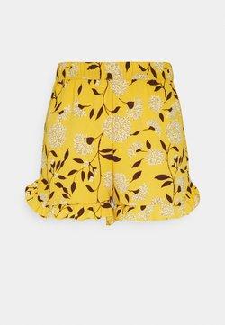 ONLY - ONLNOVA LUX FRILL  - Shorts - golden yellow/white