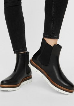 Bianco - WARM CLEATED CHELSEA - Ankle Boot - Black