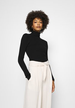 Anna Field - BASIC- RIBBED TURTLE NECK - Maglione - black