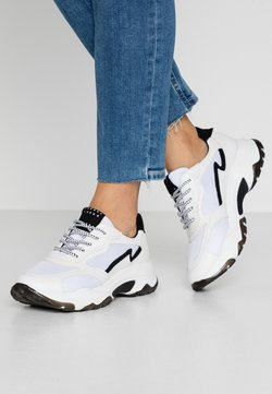 Marco Tozzi - LACE UP - Trainers - white/black