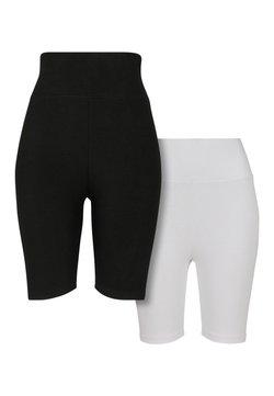 Urban Classics - 2 PACK - Shorts - black/white