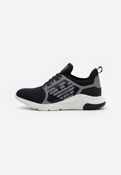 EA7 Emporio Armani - UNISEX - Sneakersy niskie - black/silver