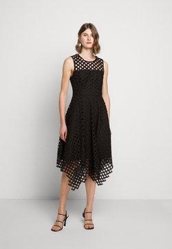 Milly - LATTICE EMBROIDERY ANNEMARIE DRESS - Vestito elegante - black