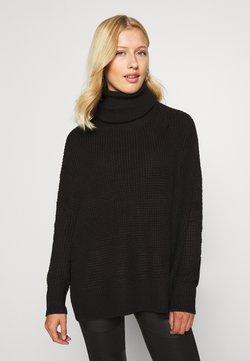 Vero Moda - VMLEANNA COWLNECK - Strickpullover - black