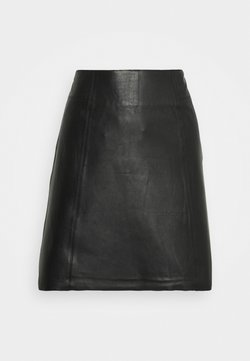 Selected Femme - SLFIBI SKIRT - Spódnica mini - black