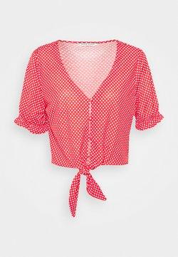 NAF NAF - OPEPITA - T-Shirt print - lipstick/ecru