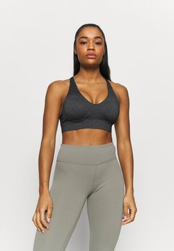 Cotton On Body - WORKOUT TRAINING CROP - Sport-bh met medium support - charcoal marle