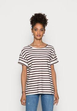 Esprit - COO STRIPE - T-Shirt print - rust brown