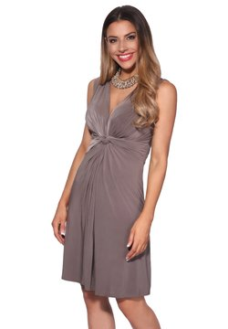 KRISP - KNOT FRONT SELF - Cocktail dress / Party dress - mocha