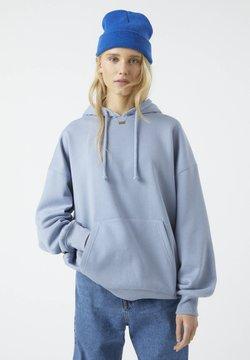 PULL&BEAR - Bluza z kapturem - blue